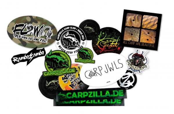 Carpzilla Sticker Set groß